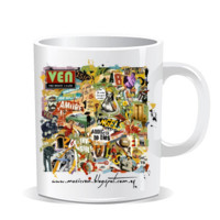 "Taza collage ""The Misfit´s land"""